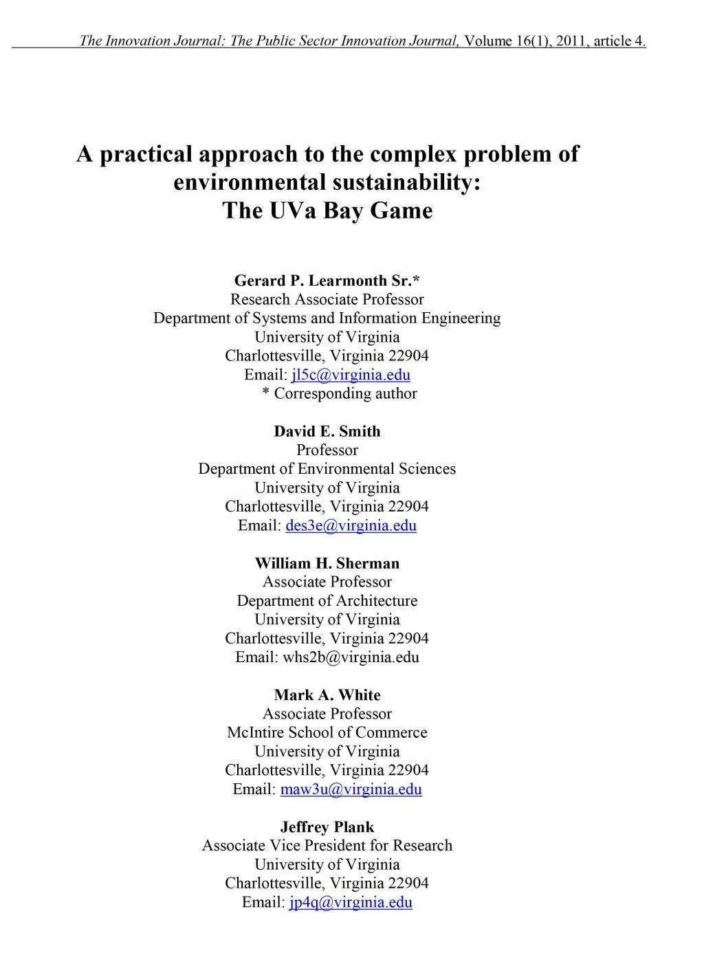 A practical approach to the complex problem of environmental sus